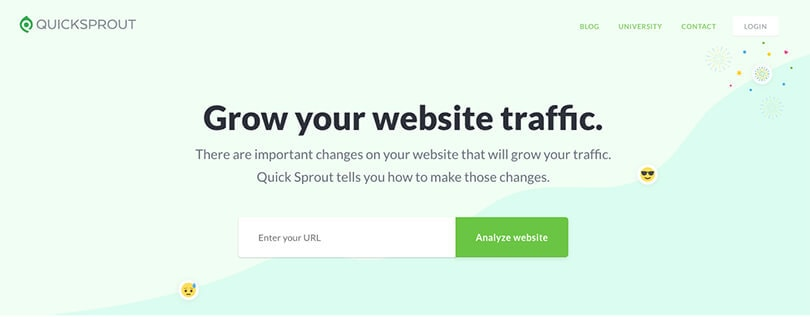 Quick Sprout Homepage