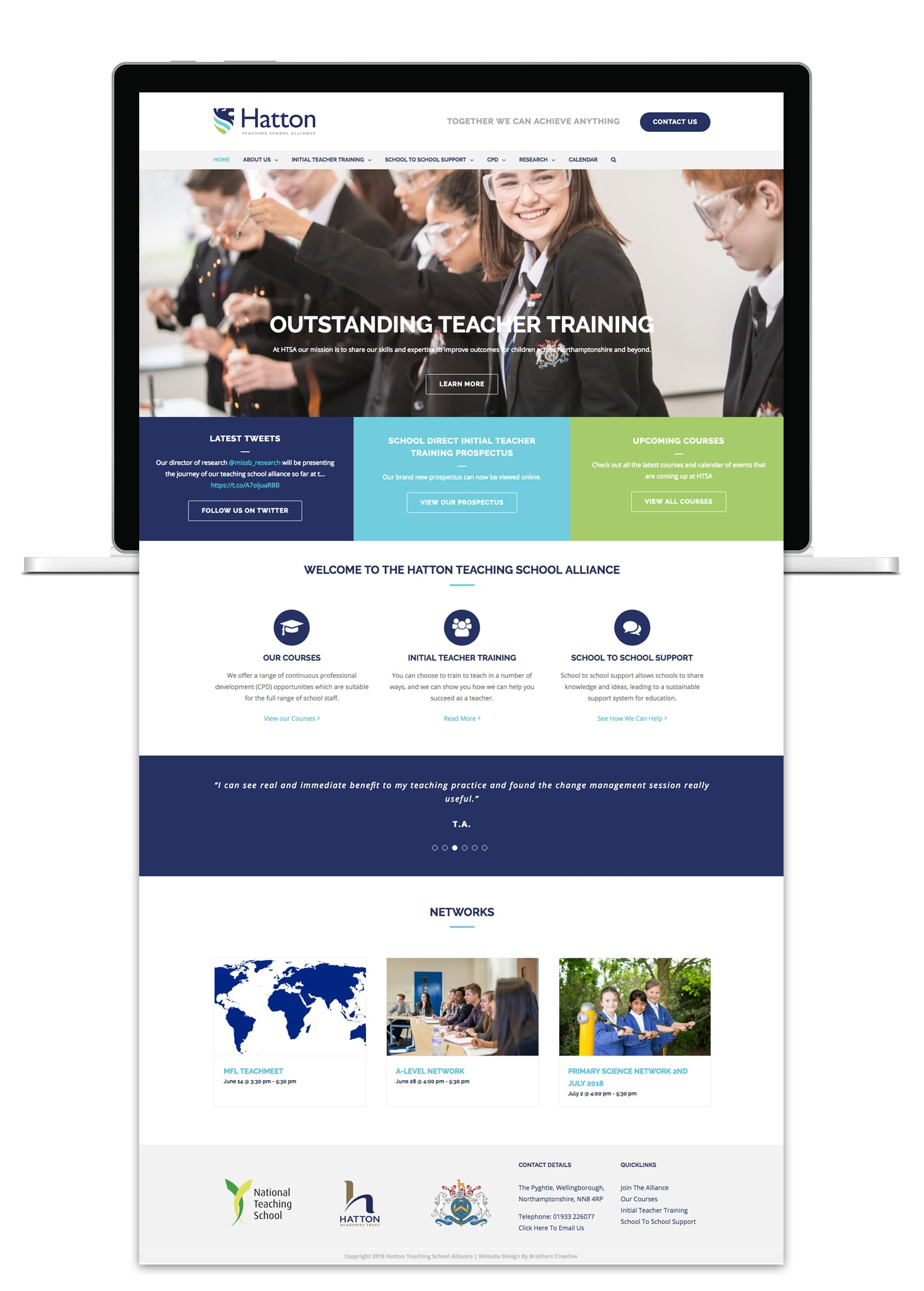 Brothers Creative | Hatton Teaching School Alliance School Website