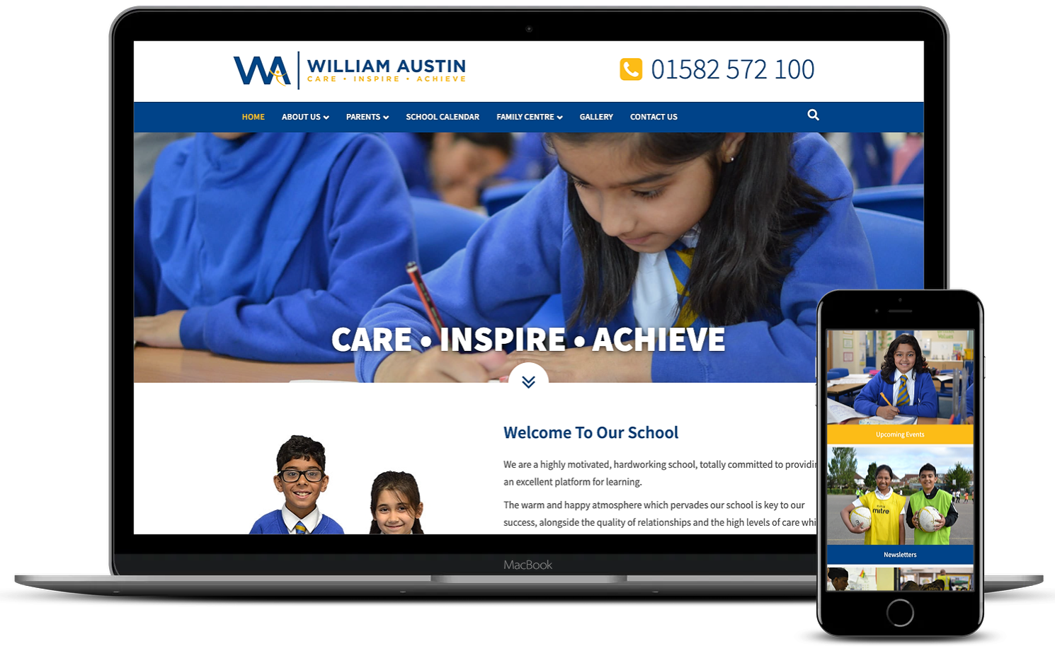 Brothers Creative | William Austin Junior School Website Design