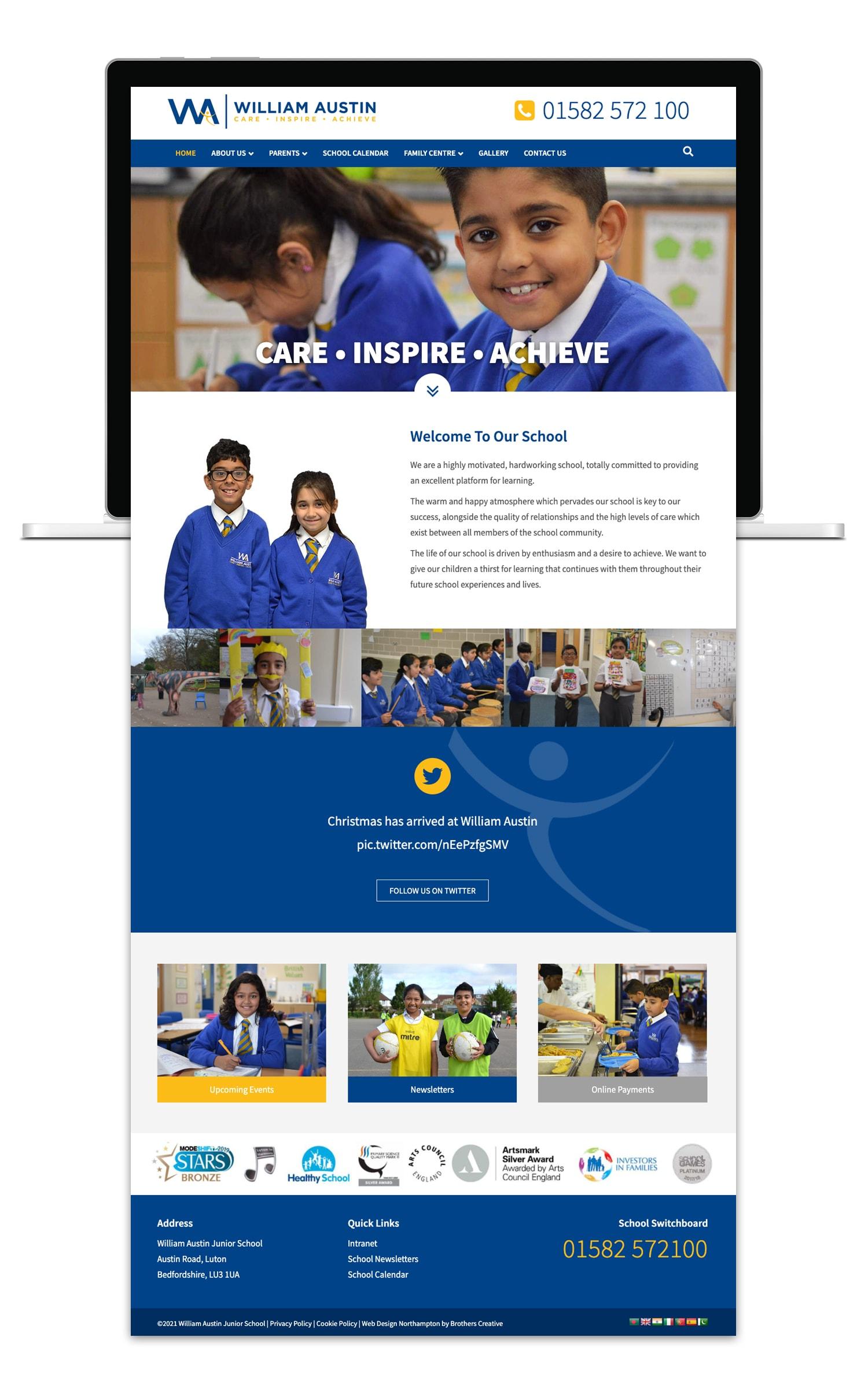 Brothers Creative | William Austin Junior School Website Design