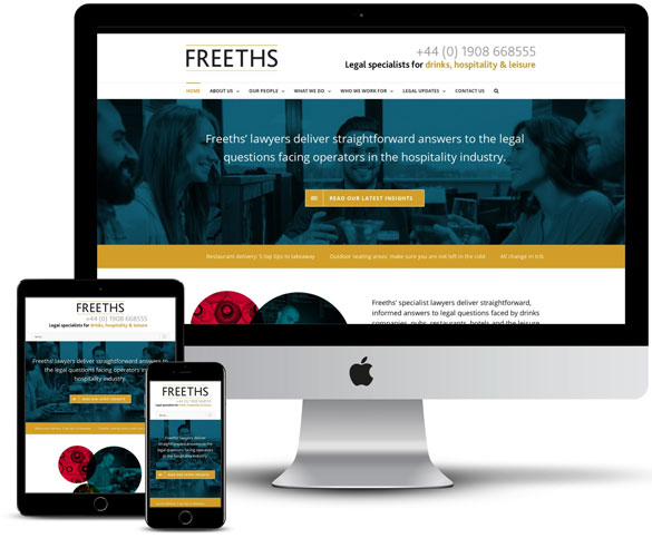 Brothers Creative | Freeths Solicitors Website Design