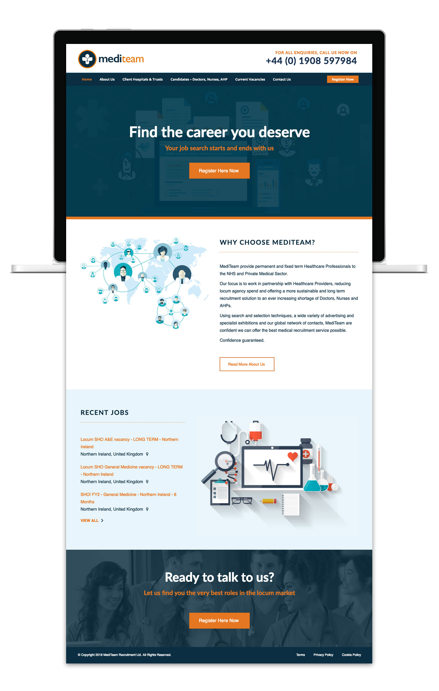 Brothers Creative | Mediteam Medical Recruitment Website Design