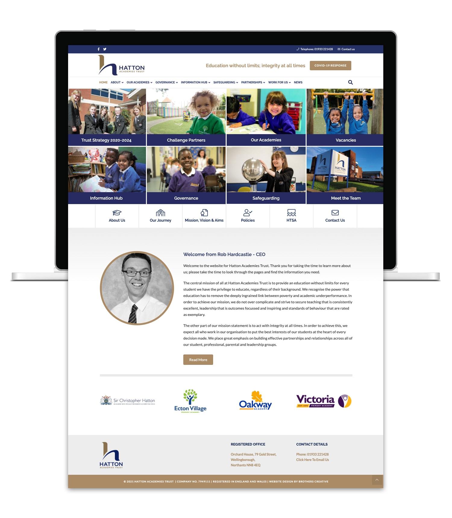 Hatton Academies Trust School Website Design