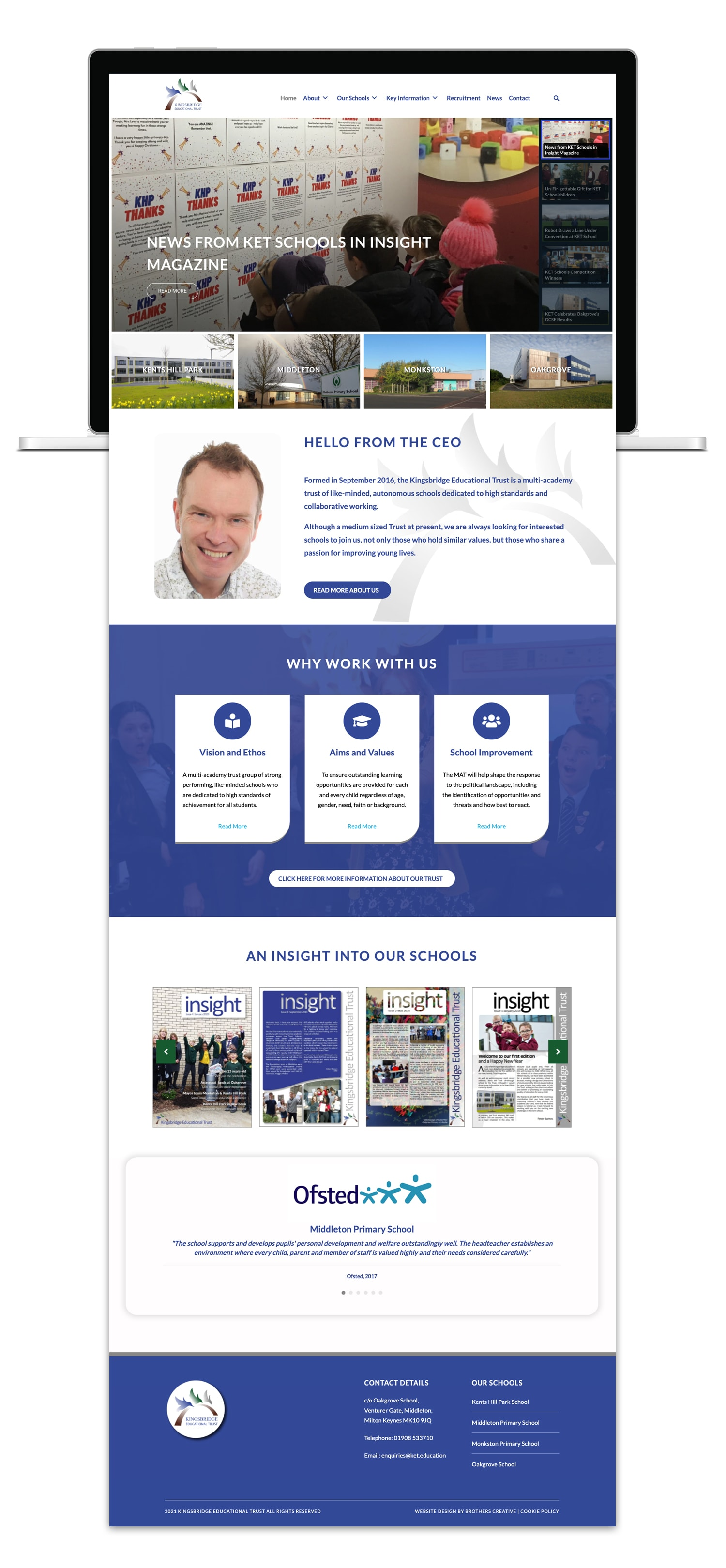 Kingsbridge Educational Trust Website Design
