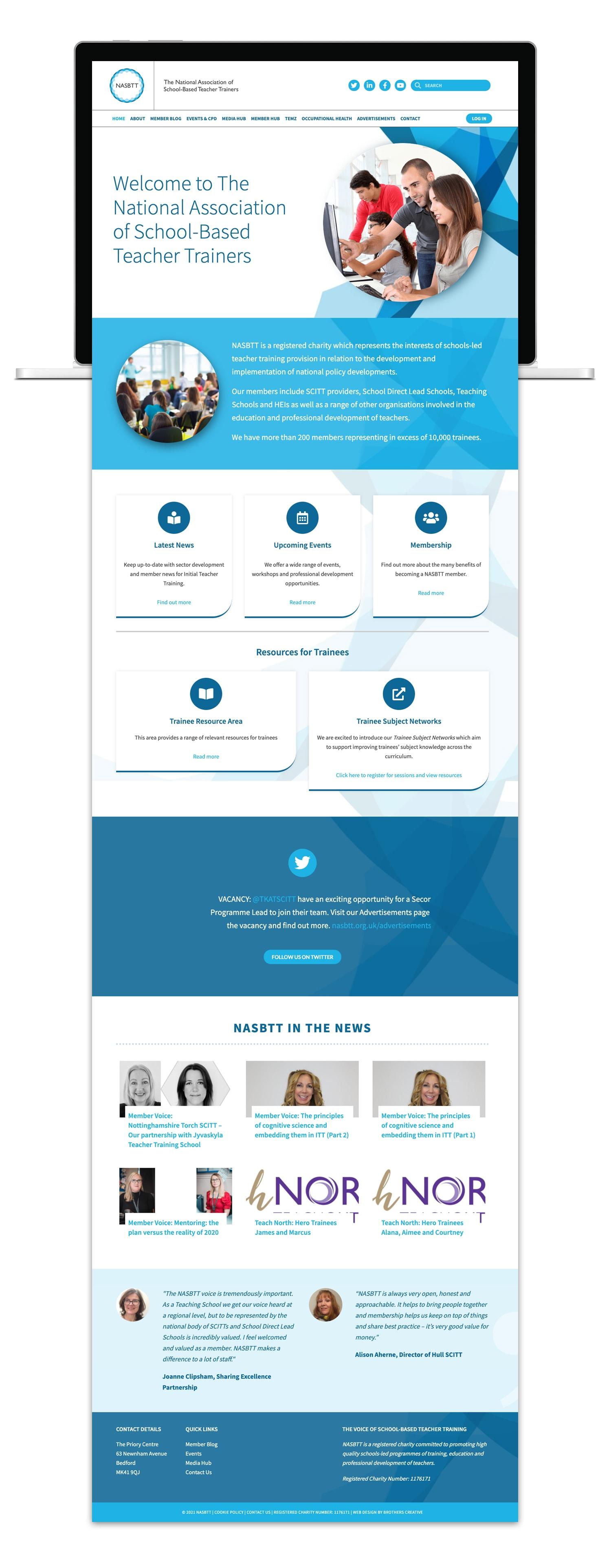 National Association Of School Based Teacher Trainers Website Design