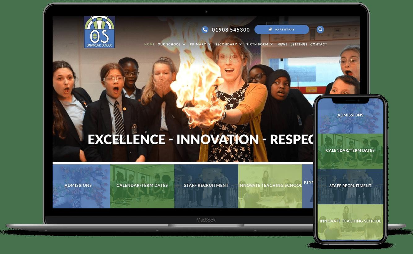 Oakgrove School Website Design