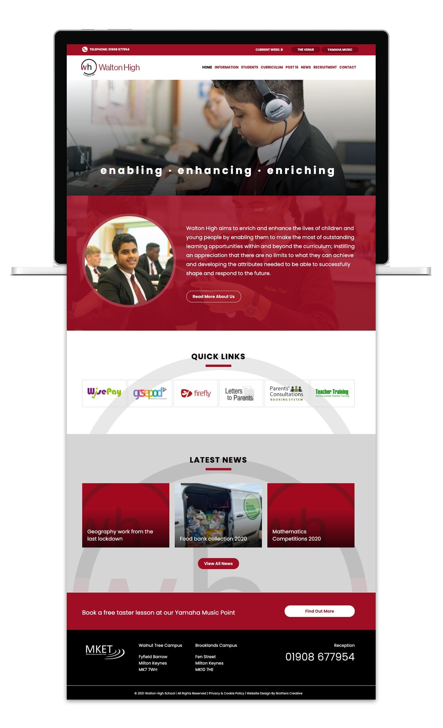 Walton High School Website Design